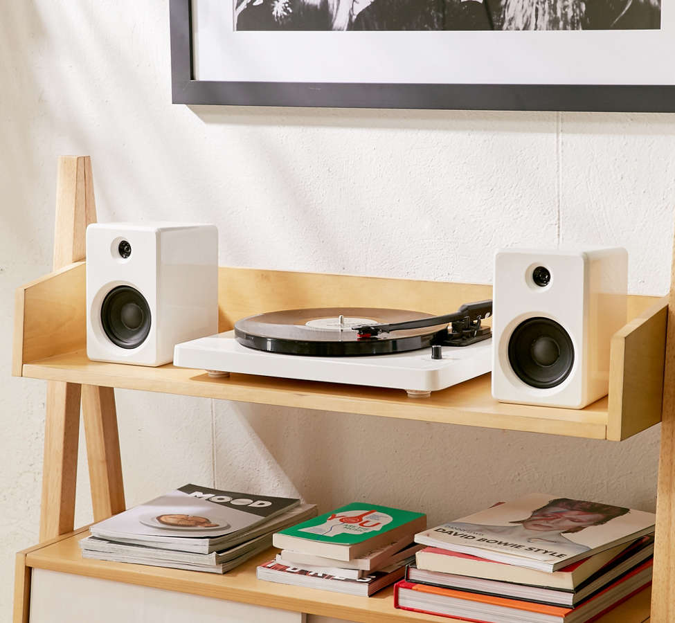 Slide View: 6: EP-33 Bluetooth Turntable With Speakers - White