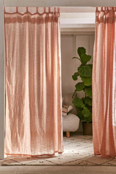 Adara Trim Curtain - Pink 84