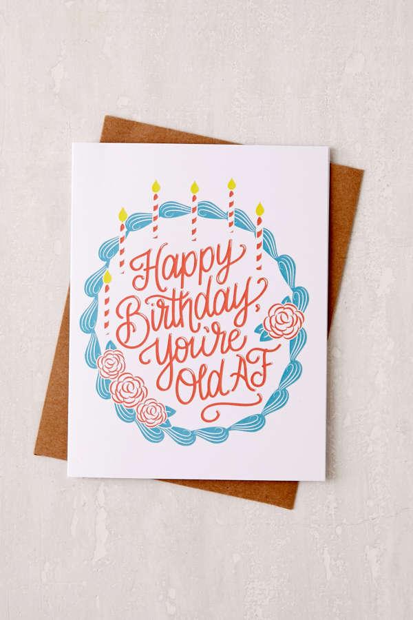 Lionheart Prints Old AF Birthday Card – Urban Birthday Cards