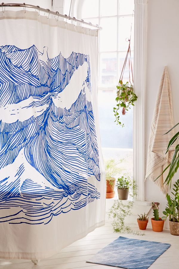 Kym Fulmer Crashing Waves Shower Curtain Urban Outers