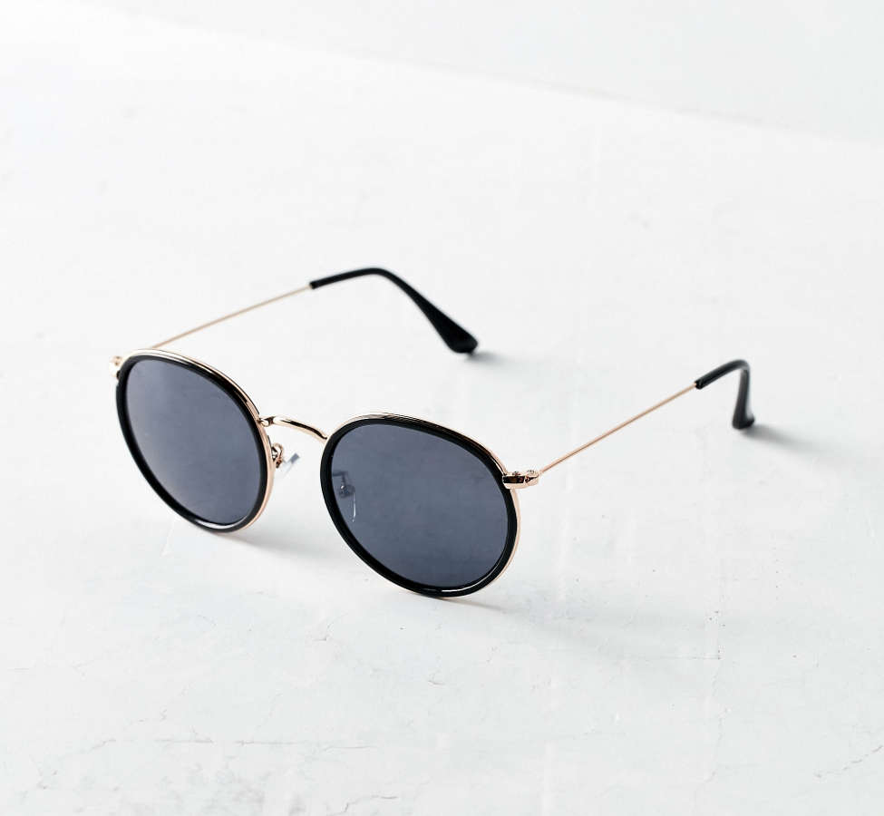 Slide View: 2: Charlie Metal Round Sunglasses