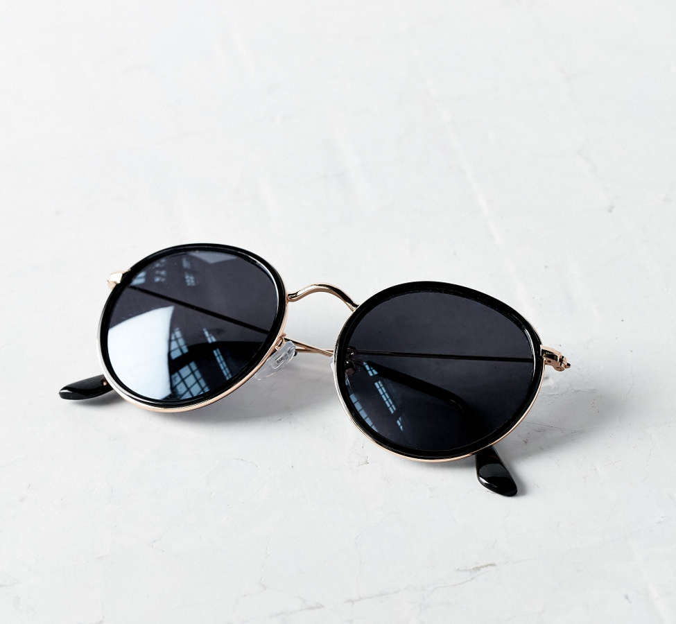 Slide View: 5: Charlie Metal Round Sunglasses