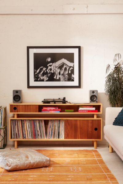 Hamilton Wood Media Console - Neutral One Size at Urban Outfitters