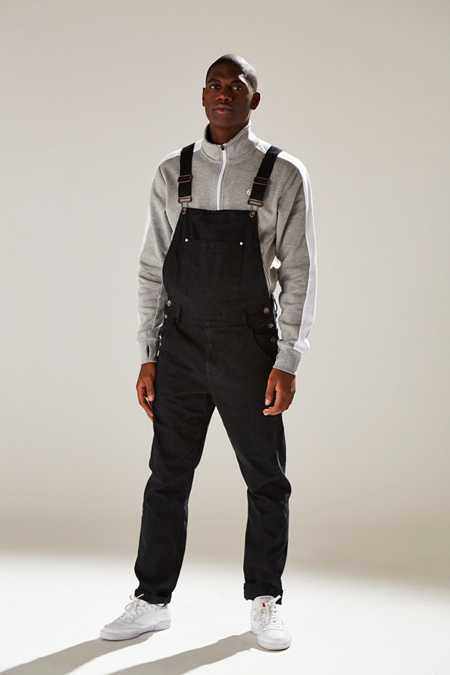 SkylineWears Mens Adjustable Straps Unlined Cotton Denim Washed Multiple Pockets Bib Overall Dark Blue See Details Product - Men's Big & Tall Short Sleeve Deluxe Poplin Coverall.