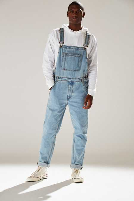 BDG Light Stonewash Denim Overall