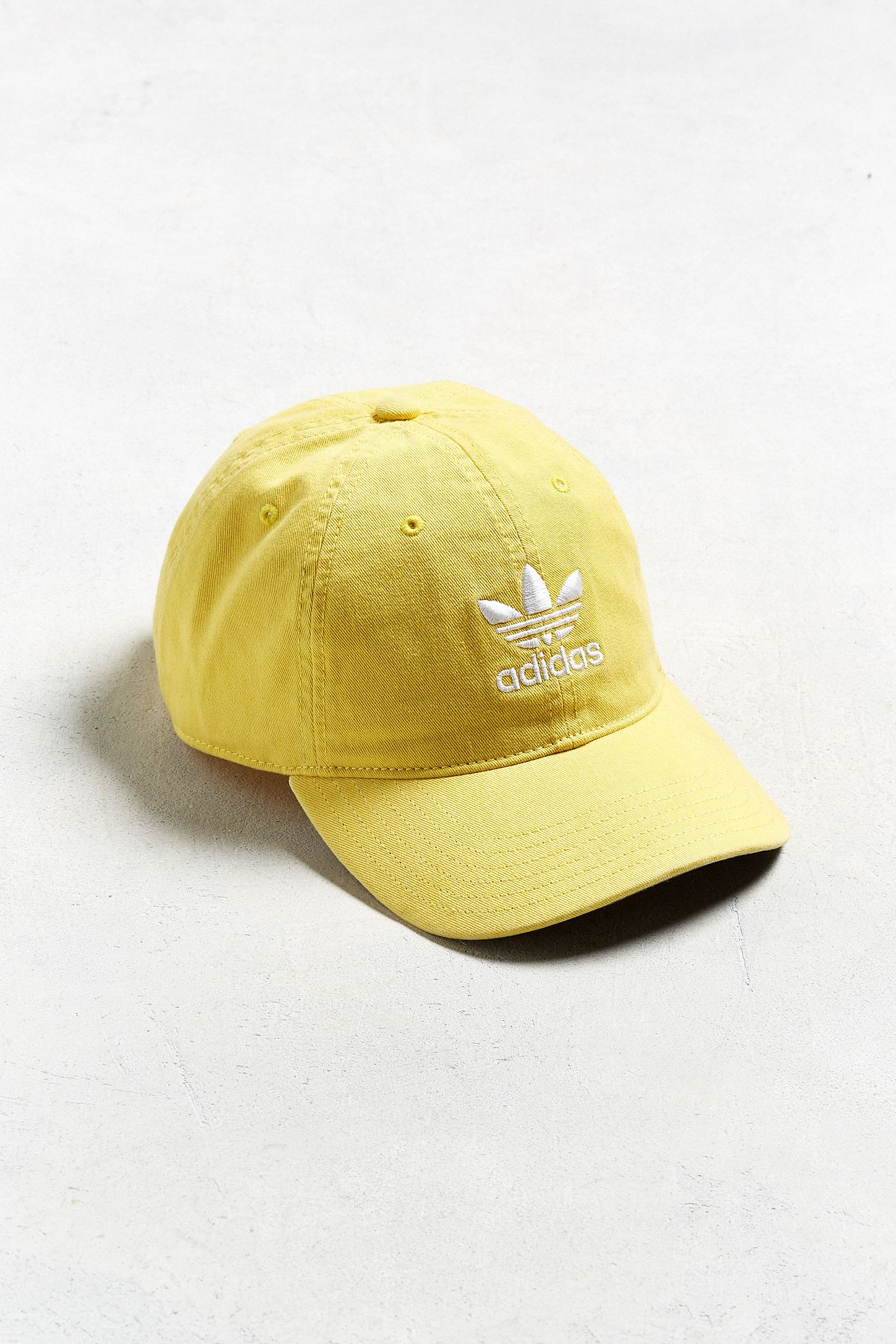 adidas Originals Relaxed Yellow Baseball Hat  706ea3e0366