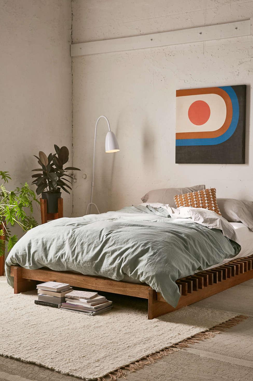 Sarah Slatted Platform Bed | Urban Outfitters