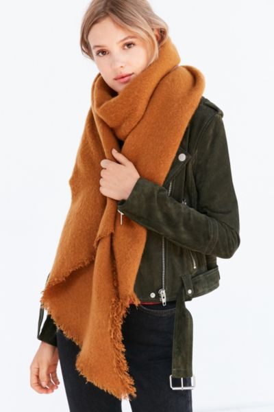 Nubby Oversized Blanket Scarf