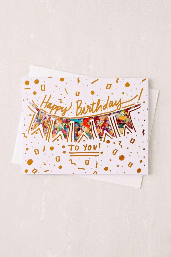 Thimblepress Confetti Birthday Card – Urban Birthday Cards