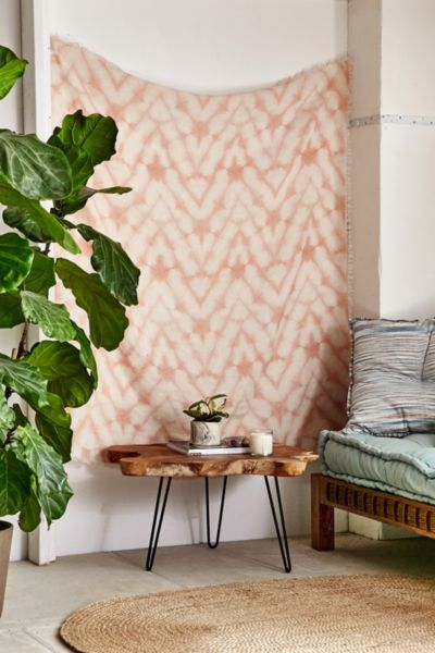 Graham Keegan Blush Shibori Tapestry - Peach One Size at Urban Outfitters