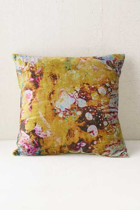 Marble Glam Velvet Pillow
