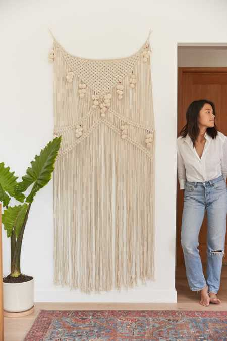 Meda Metallic Macrame Wall Hanging