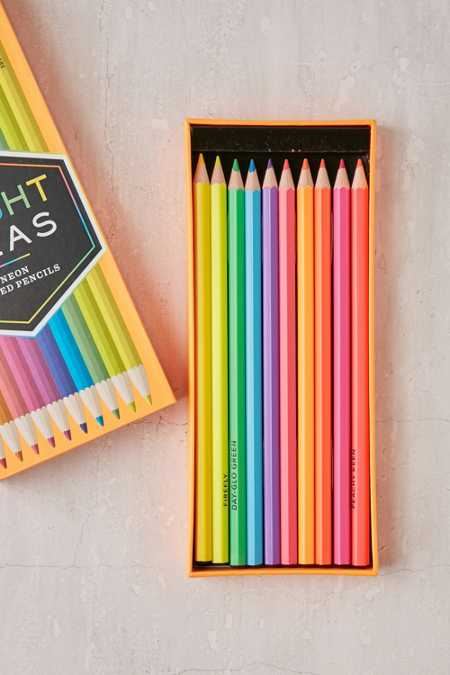 Neon Colored Pencils Set