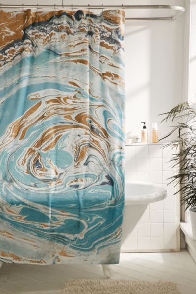 Agate Stone Marble Shower Curtain