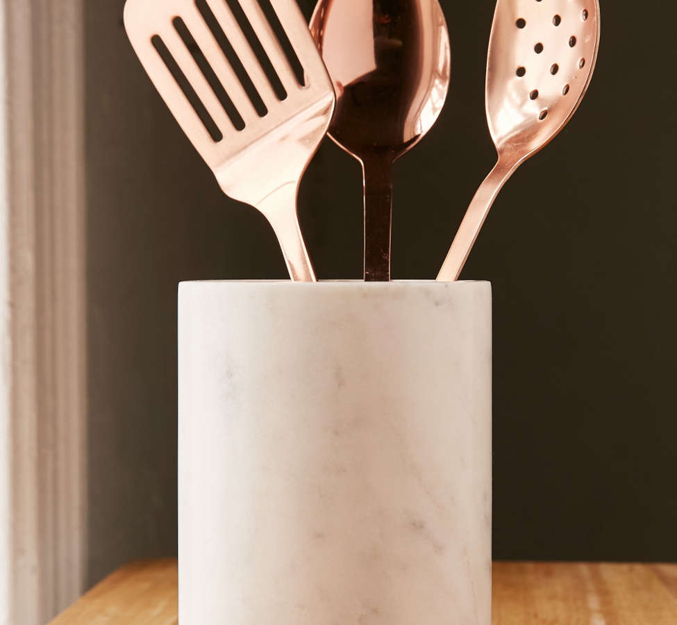 Slide View: 3: Marble Utensil Holder