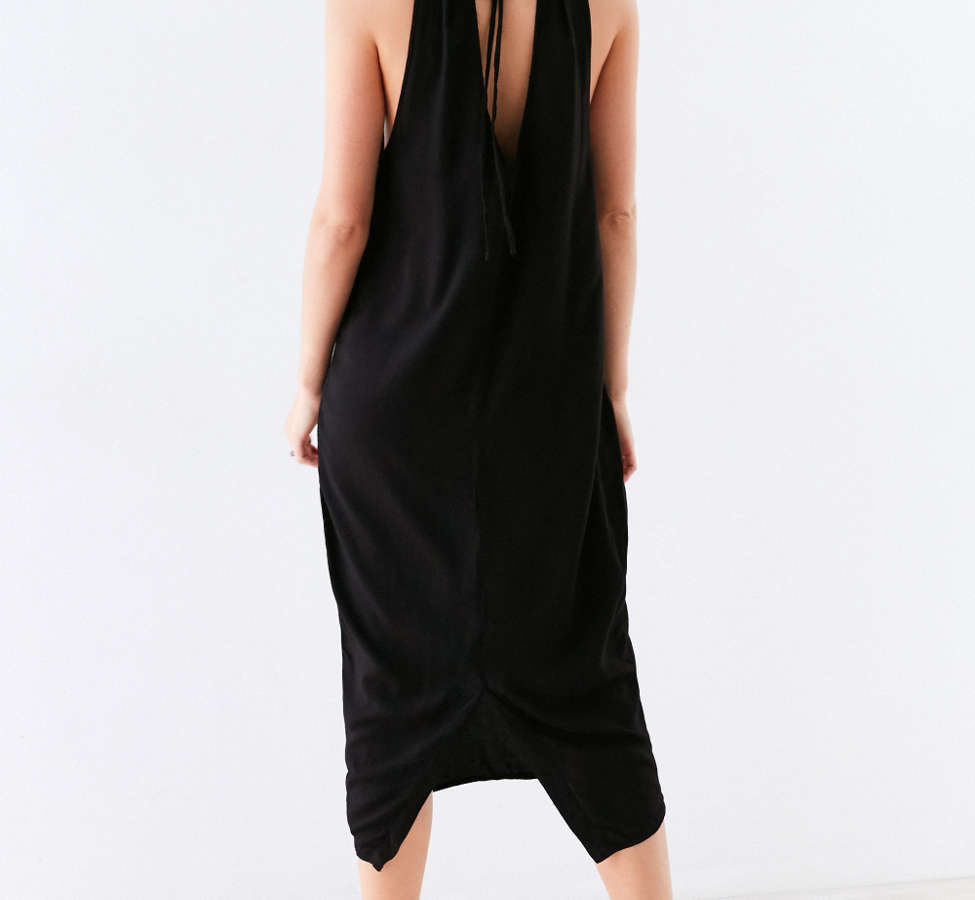 Slide View: 2: Silence + Noise Scoop Plunge Midi Dress