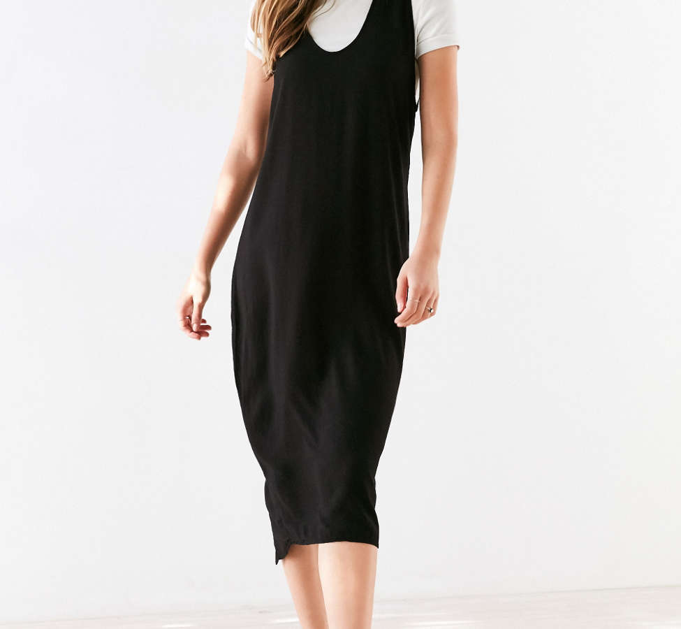 Slide View: 4: Silence + Noise Scoop Plunge Midi Dress