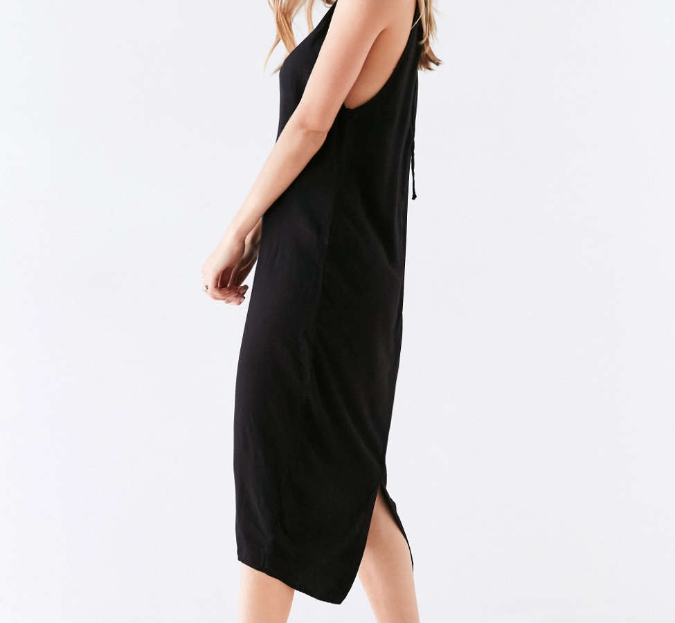 Slide View: 6: Silence + Noise Scoop Plunge Midi Dress