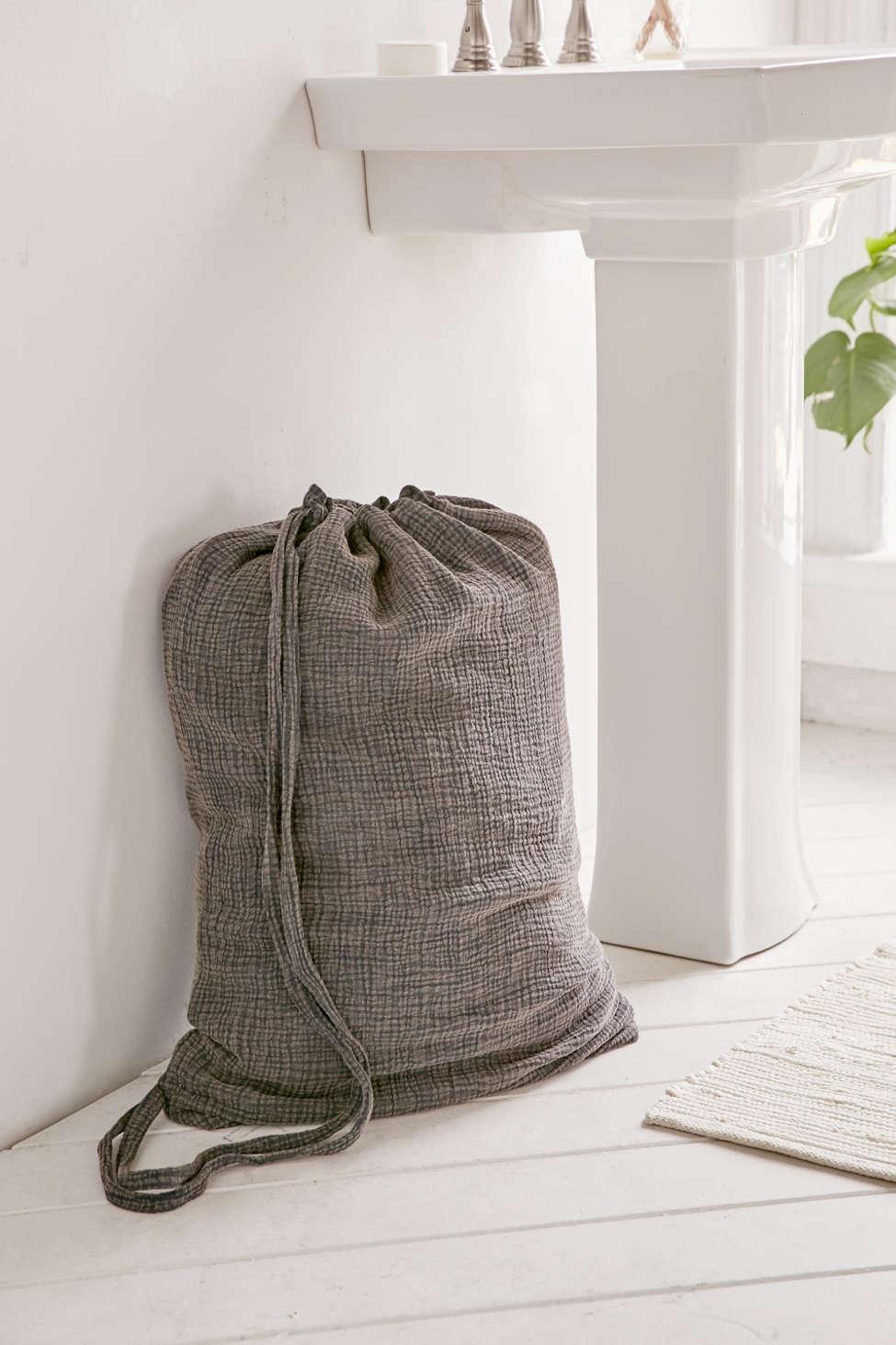 Slide View: 1: Crinkle Gauze Laundry Bag