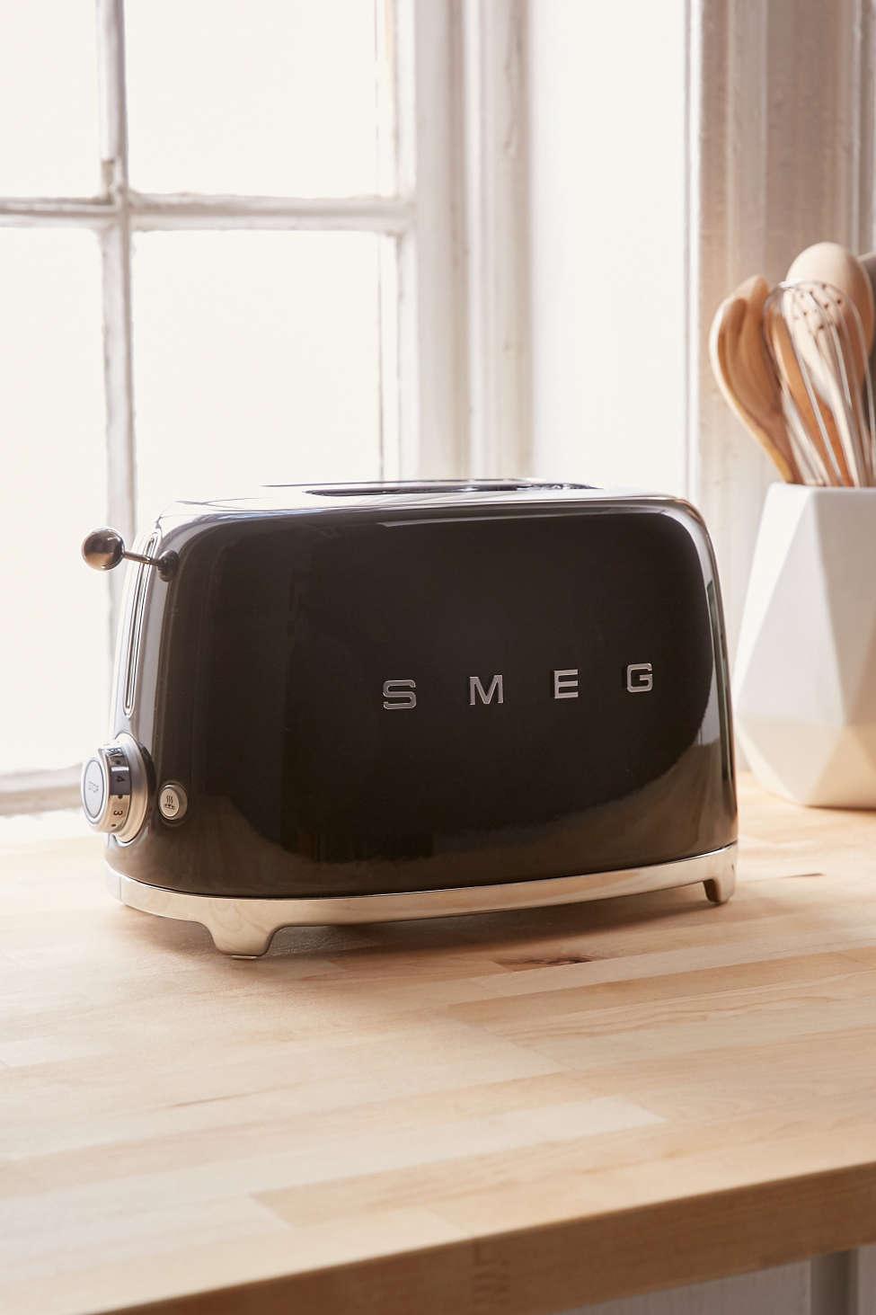 Slide View: 1: SMEG Two Slice Toaster