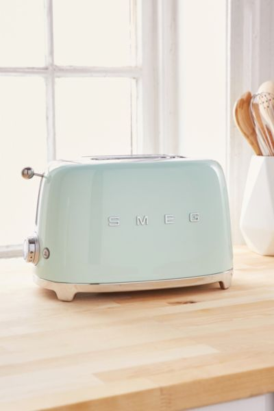 SMEG Two Slice Toaster - Mint One Size at Urban Outfitters