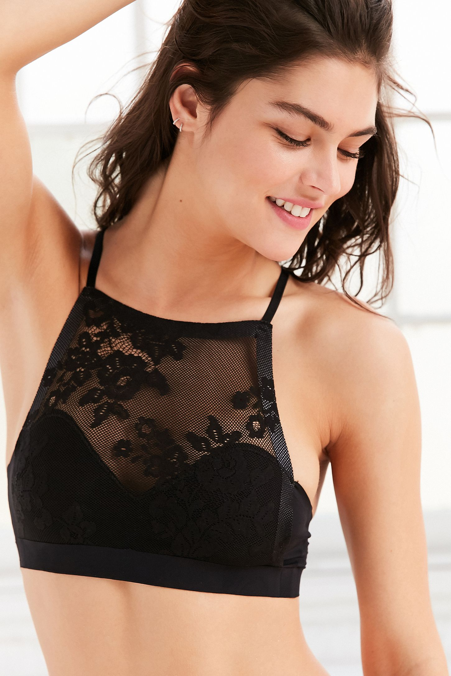 fc8fd11ff4 Out From Under Fusion Lace High Neck Bra. Tap image to zoom. Hover to zoom.  Double Tap to Zoom