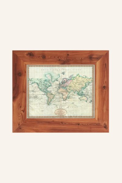 Adam Shaw Vintage World Map (1801) Art Print - Brass One Size at Urban Outfitters