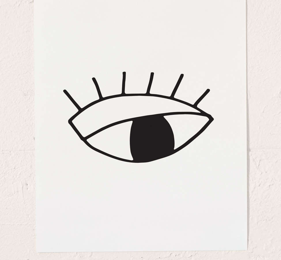 Slide View: 2: Cult Paper Eye Art Print