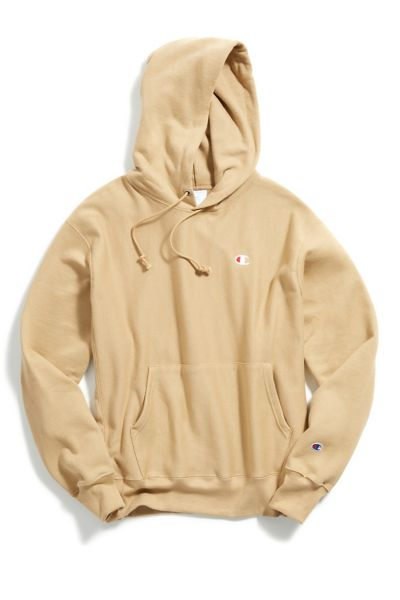 Champion Reverse Weave Hoodie Sweatshirt - Taupe S at Urban Outfitters