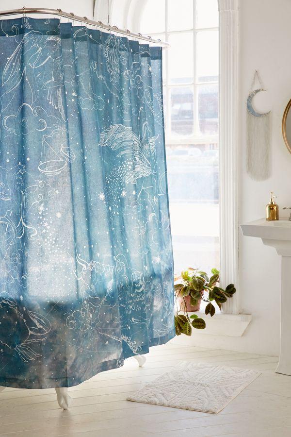 Slide View 1 Illustrative Zodiac Shower Curtain
