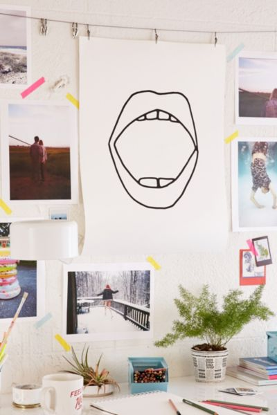 Cult Paper Mouth Art Print Urban Outfitters