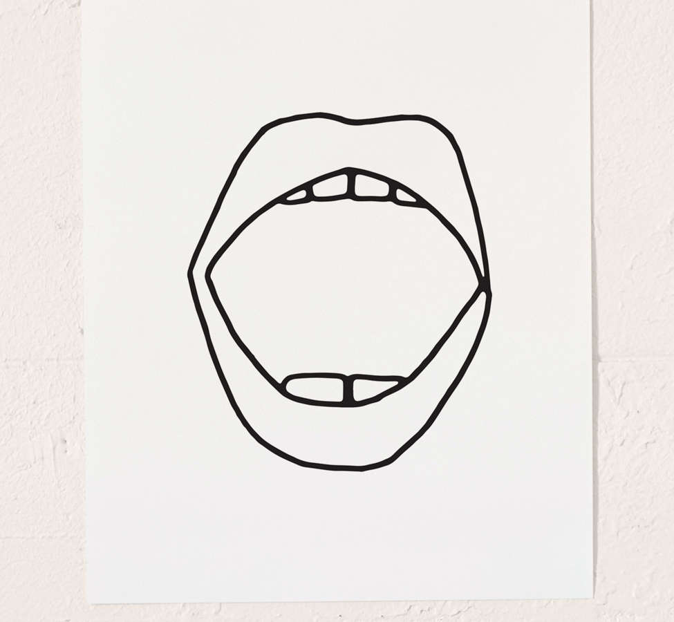 Slide View: 2: Cult Paper Mouth Art Print