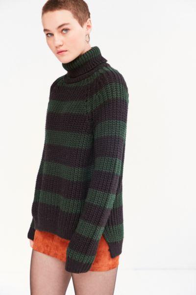 BDG Aria Striped Turtleneck Sweater