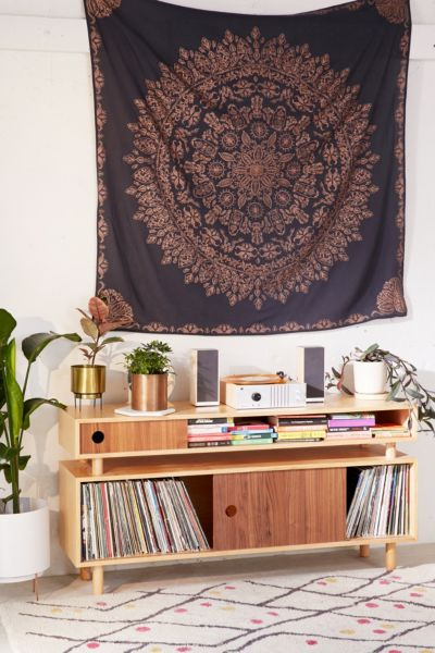 Folklorica Medallion Tapestry - Navy One Size at Urban Outfitters