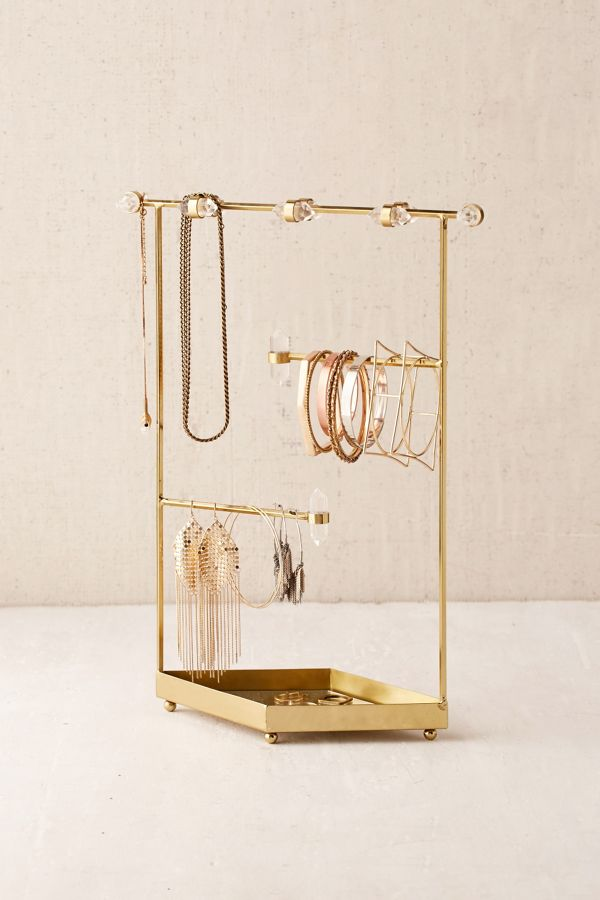 Crystal jewelry organizer urban outfitters for Sawyer marble jewelry stand