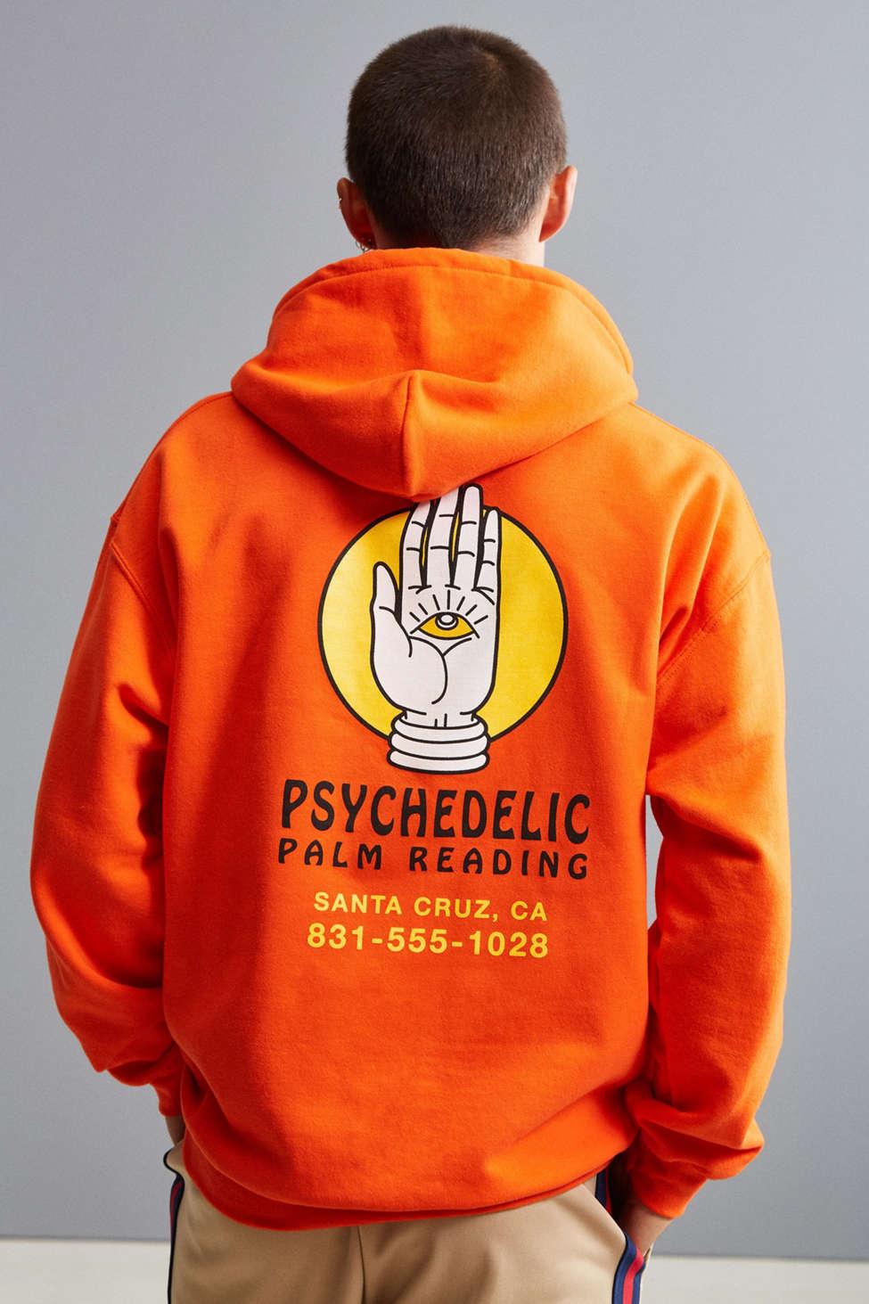 Slide View: 1: Psychedelic Palm Reader Hoodie Sweatshirt