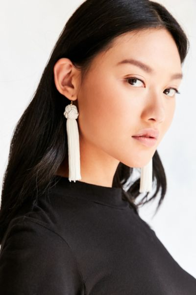 Vanessa Mooney Astrid Knotted Tassel Earring