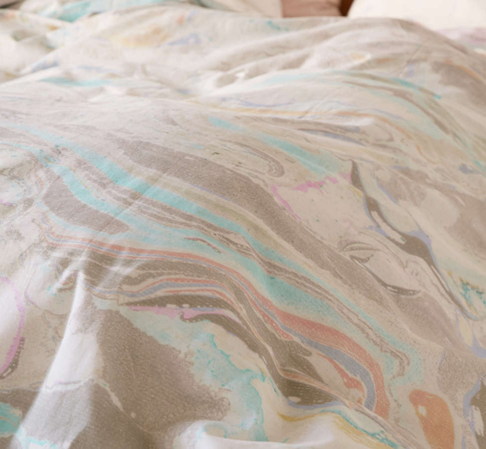 Slide View: 3: Mixed Marble Duvet Cover