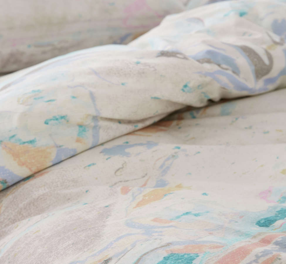 Slide View: 4: Mixed Marble Duvet Cover