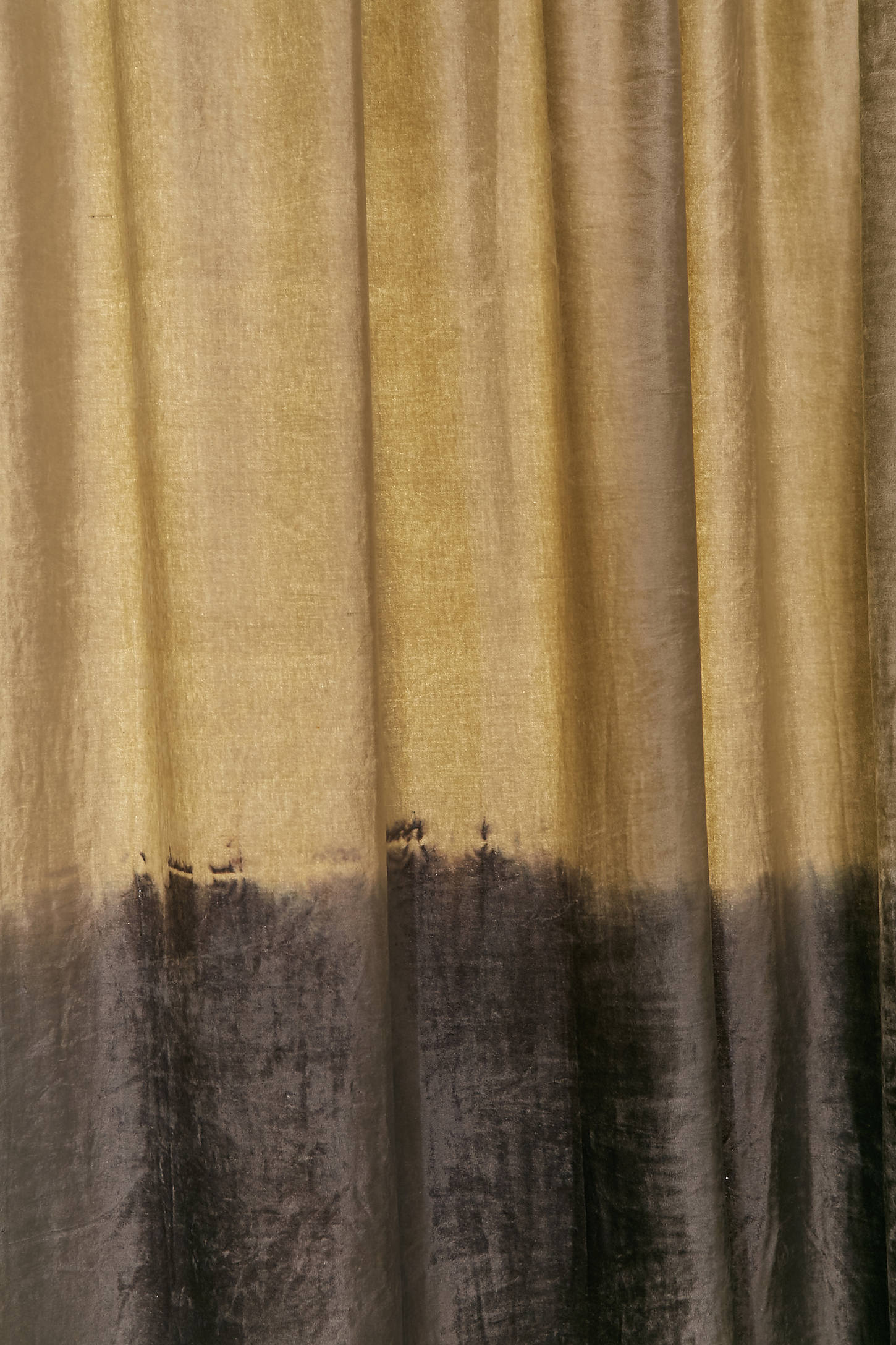 Curtains texture gold - Slide View 3 Velvet Dip Dyed Curtain
