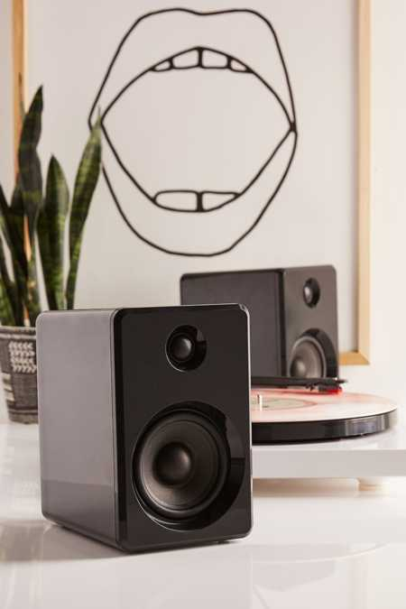LE-43 Wireless Bookshelf Speakers Set - Black