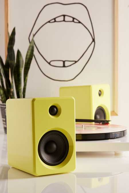 LE-43 Wireless Bookshelf Speakers Set - Yellow
