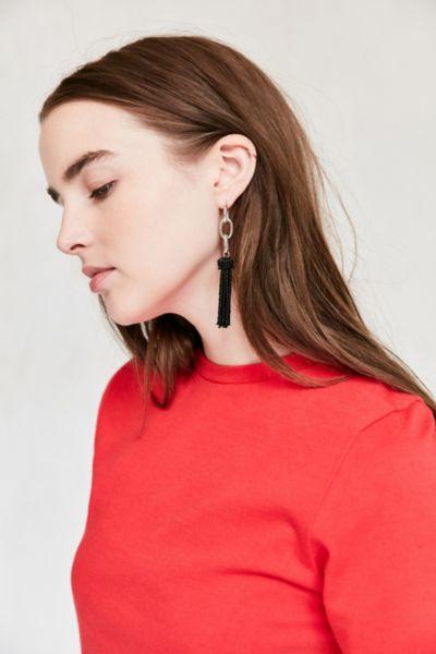 Yara Chain Tassel Statement Earring