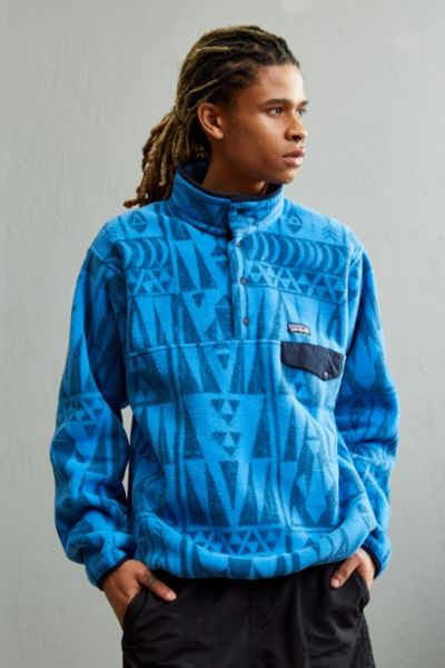 Patagonia Synchilla Fleece Snap-T Sweatshirt - Blue S at Urban Outfitters