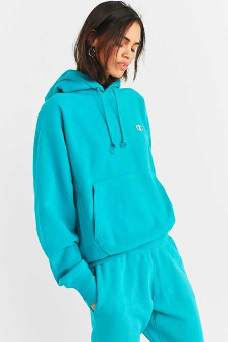 Slide View: 1: Champion & UO Reverse Weave Hoodie Sweatshirt