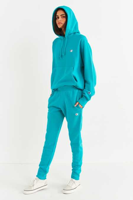 Slide View: 2: Champion & UO Reverse Weave Hoodie Sweatshirt