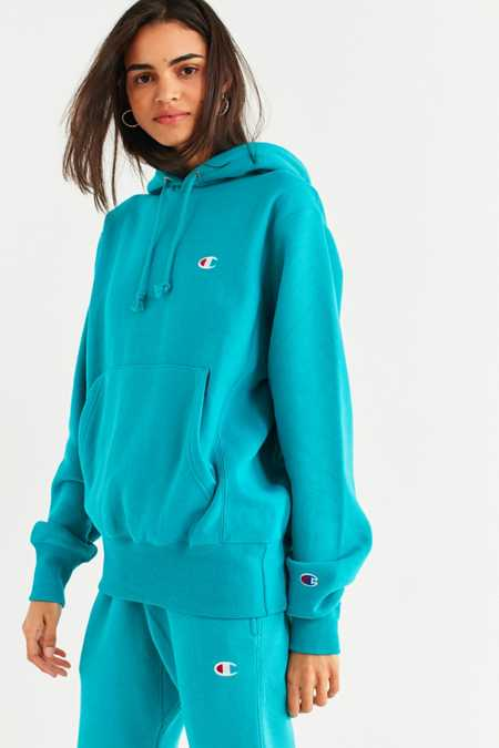 Slide View: 5: Champion & UO Reverse Weave Hoodie Sweatshirt