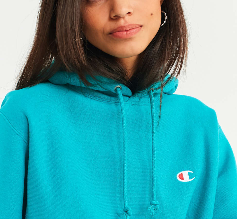 Slide View: 6: Champion & UO Reverse Weave Hoodie Sweatshirt