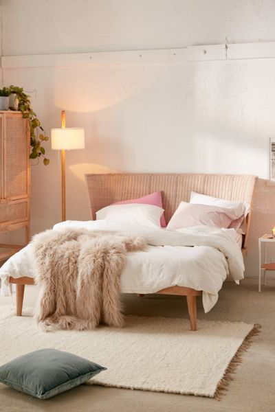 Marte Woven Windsor Platform Bed Urban Outfitters