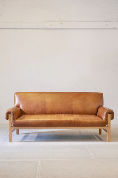 Cresley Leather Sofa Urban Outfitters